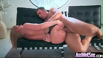 (Brooklyn Chase) Big Oiled Ass Girl Like Deep Anal Hardcore Sex clip-10