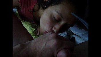 latina girl sucks &amp_ massages her boyfriend'_s balls